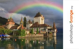 Как сделать реалистичную радугу. Урок Фотошоп