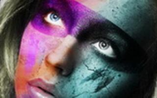 Photoshop — эффект краски на лице
