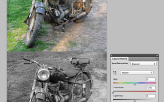 Простейшие методы создания черно-белых снимков в Photoshop