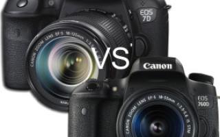 Шпаргалка-сравнение профессиональных зеркальных фотокамер
