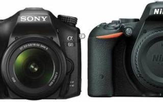 Sony A68 против Nikon D5500