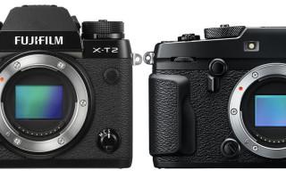 Fujifilm X-Pro2 в сравнении с Fujifilm X-T2